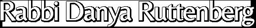 Rabbi Danya Ruttenberg